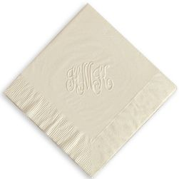 Monogram Wedding Napkins