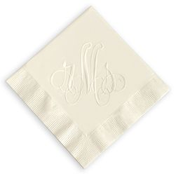 Elise Personalized Monogram Napkins