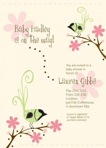 Happy birds baby shower invitation wiregrass weddings happy birds party invitation filmwisefo Image collections