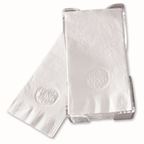 Cheap Guest Towels: Embossed Monogram Guest Towels Napkins
