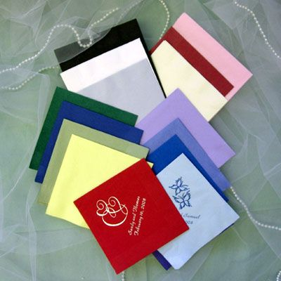 Personalized wedding napkins wiregrass weddings