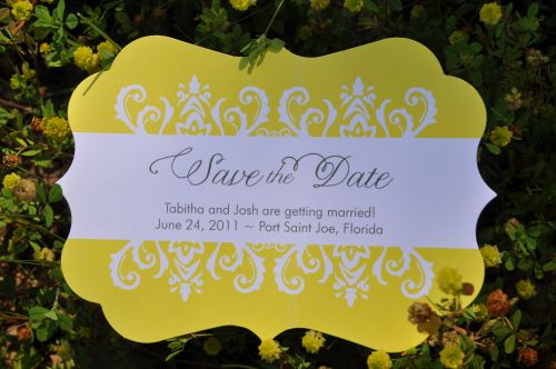 Die Cut Save the Dates