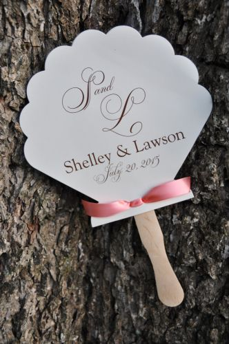 Wedding Program Fan (Shelley)