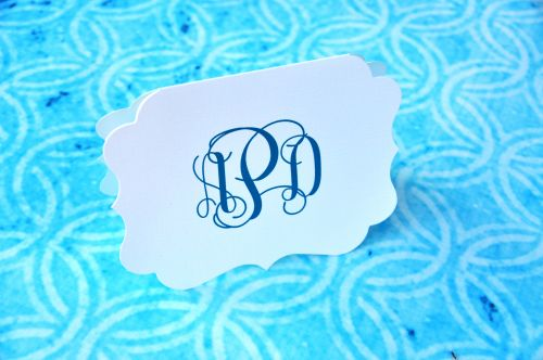 Die Cut Note Cards