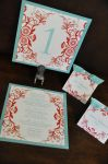 Square Mounted Menu Cards