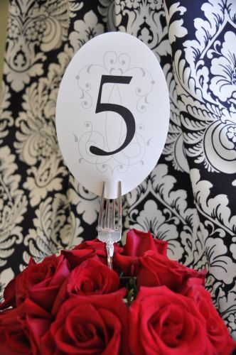 Oval Table Number Cards