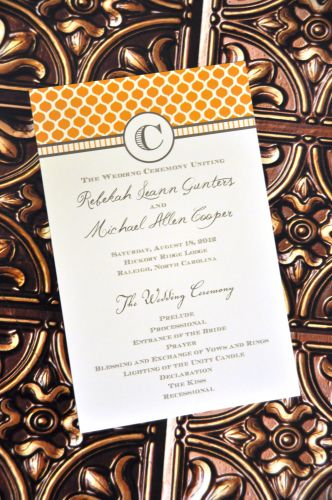 wedding program  blair