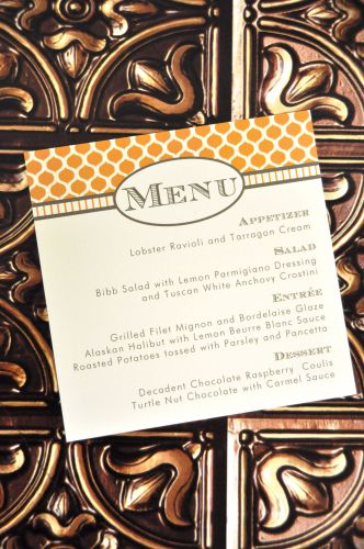 square menu cards