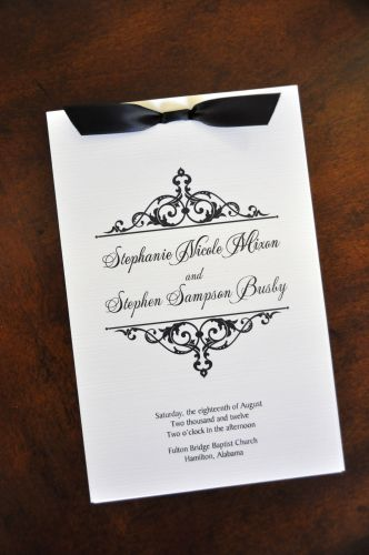 Wedding Program (Beth)