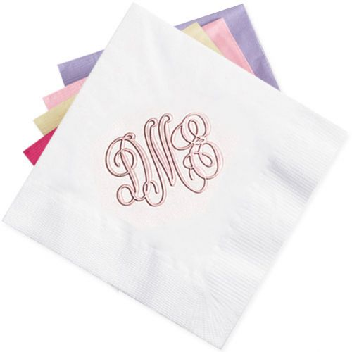 Pearl Color Mist Monogram Napkins