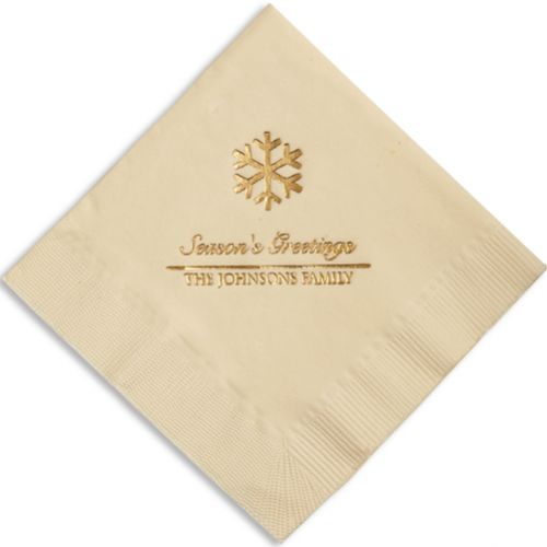 Snowflake Holiday Napkins