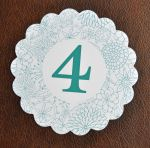Scalloped Table Number Cards