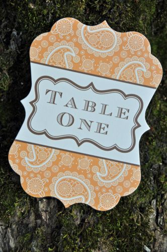 Meagan Die Cut Table Number Cards