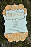 Meagan Die Cut Menu Cards