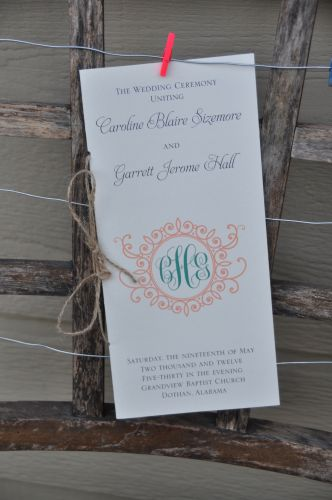 Wedding Program (Savannah)