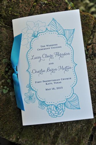Wedding Program (Leslie)