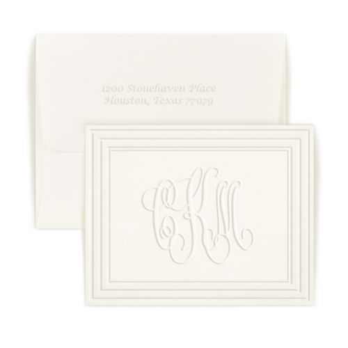 Double Thick Classic Frame Monogram Note