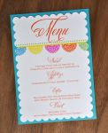 Scalloped Mounted Menu Cards