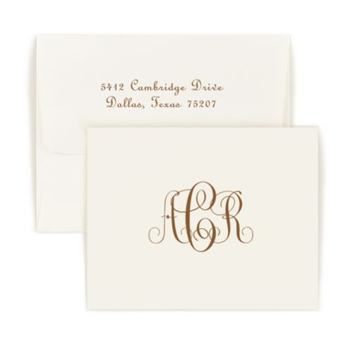 Double Thick Monogram Note