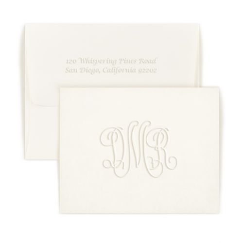 Double Thick Traditional Monogram Note