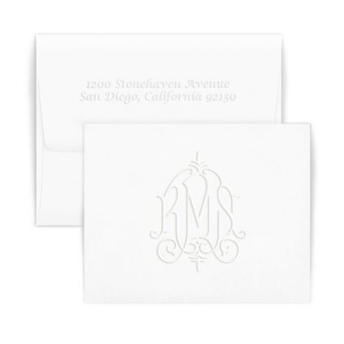 Double Thick Whitlock Monogram Note