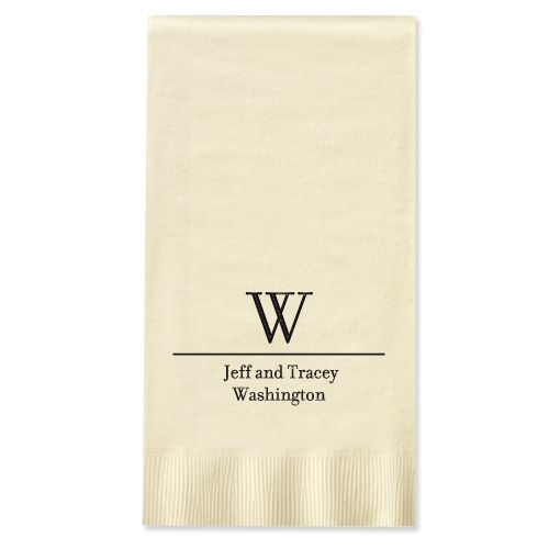 Initial and Name Foil-Stamped Guest Towels