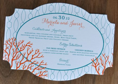 Claire Die Cut Menu Cards