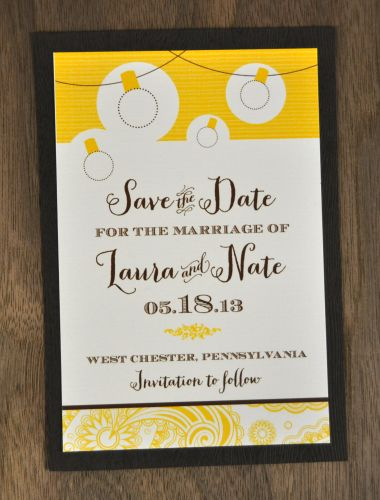 Mounted Save the Dates
