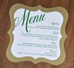 Mounted Shapely Square Wedding Menu