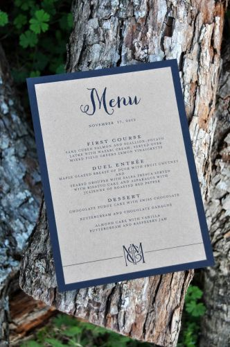 Rectangular Mounted Menu Cards