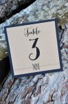 Square Mounted Table Number Cards