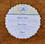 Fancy Circle Wedding Menu