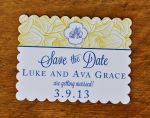 Scalloped Save the Dates