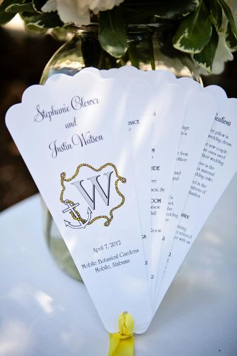 Fan Wedding Programs (Leanna)