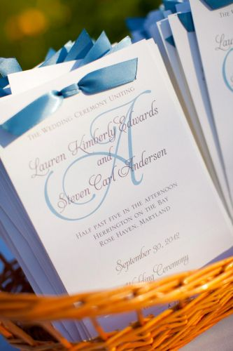 Wedding Program (Laurie)