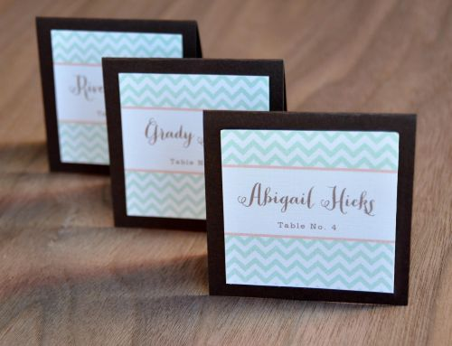 Square Mounted Place Cards