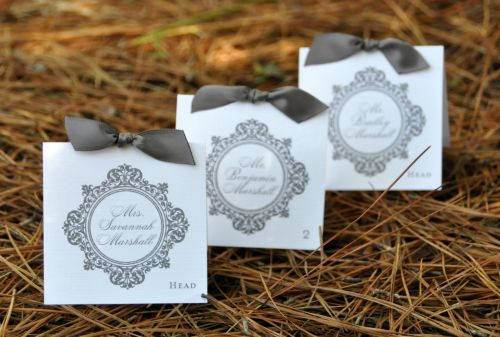 Square Ribbon Place Cards