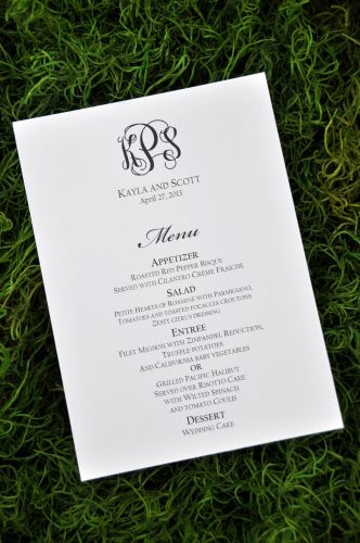 Rectangular Menu Cards