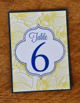 Rectangular Mounted Table Number Cards