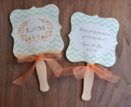 how to say thank you on wedding favors fan
