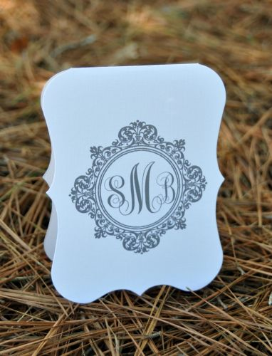 Die Cut Note Cards Vertical