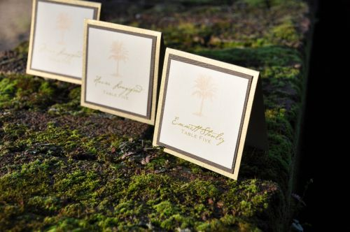 Square Double Mounted Place Cards