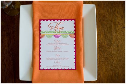 Scalloped Mounted Menu Cards (photo by Syed Yaqeen)