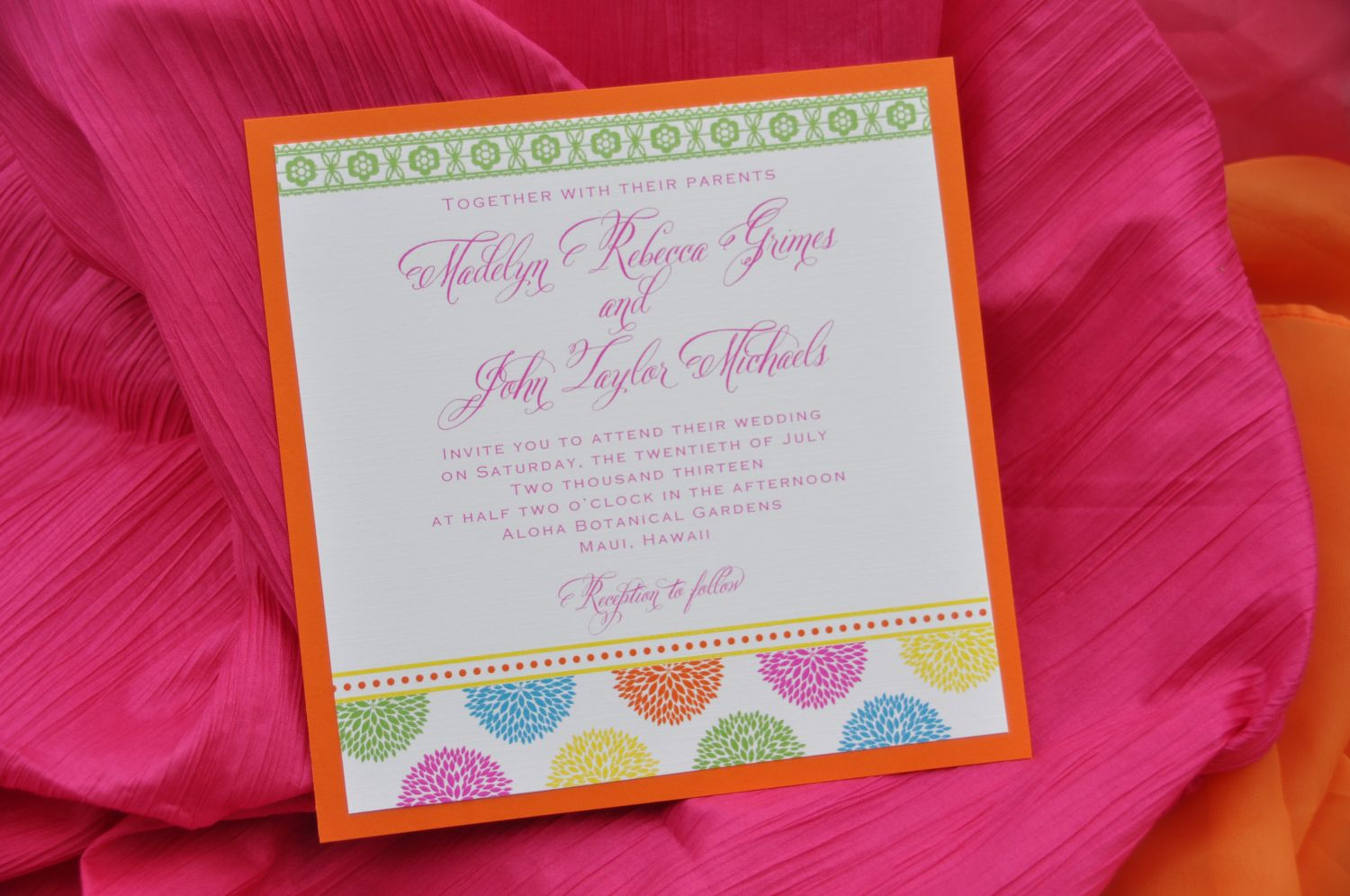 Mounted Wedding Invitations (Square) - Wiregrass Weddings