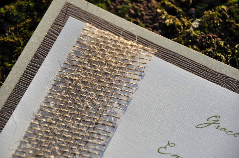 Double mounted wedding invitations burlap wiregrass weddings sophisticated rustic layered wedding invitations monicamarmolfo Image collections