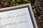 Sophisticated Rustic Layered Wedding Invitations