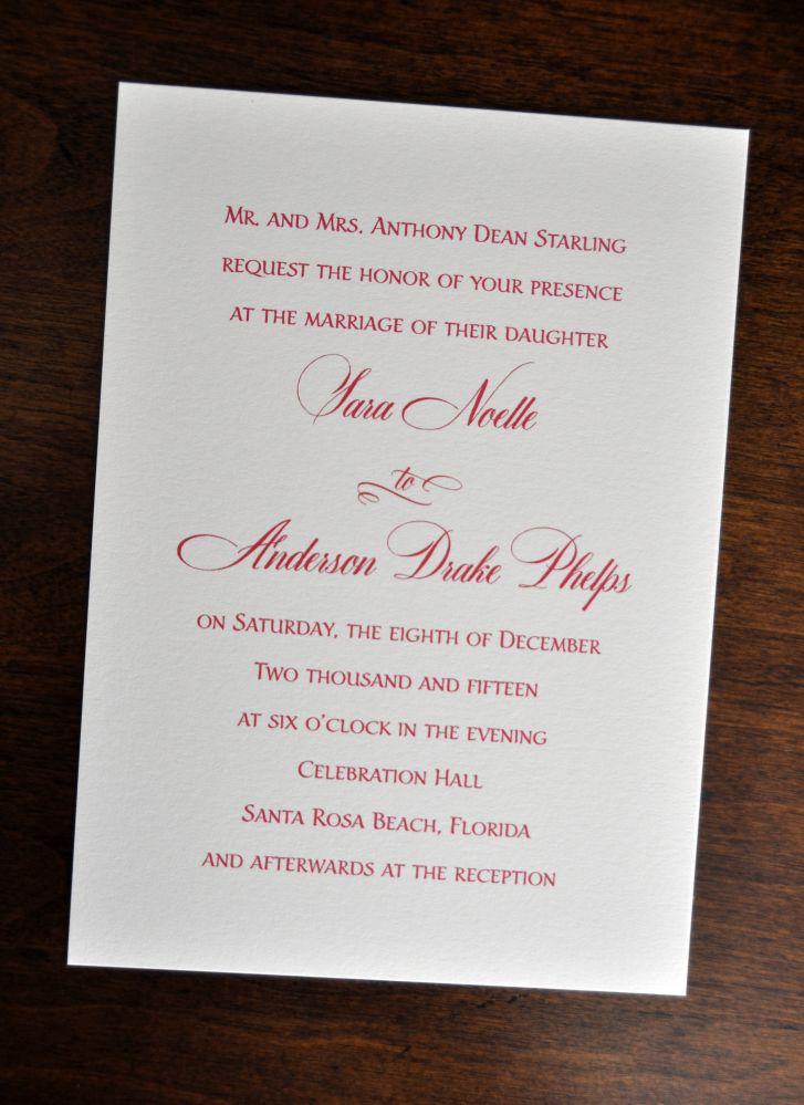 wedding invitations  traditional