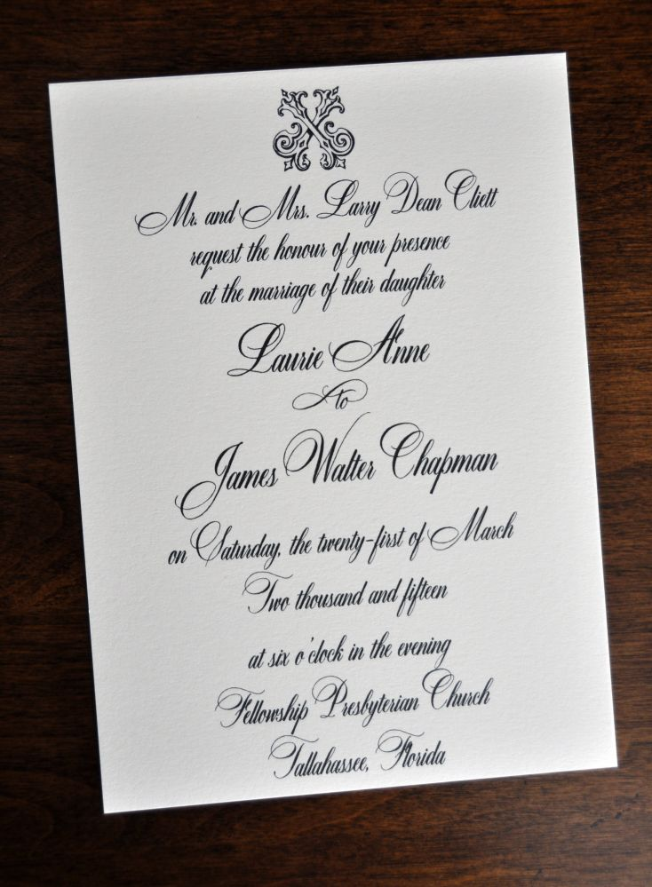 wedding invitations  traditional