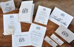 Traditional Monogram Wedding Stationery Set