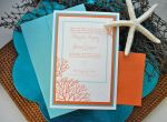 Triple Mounted Wedding Invitations